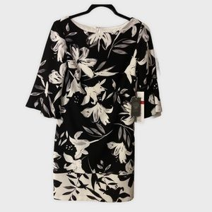 NWT Vince Camuto Black Floral Dress Size 8